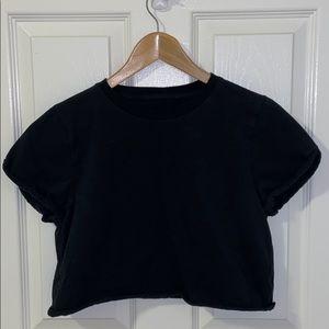 Tops - Black cropped t-shirt